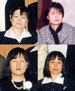 上段:左・吉田純子、右・石井ヒト美     下段:左・堤美由紀、右・池上和子