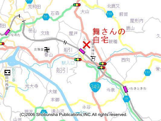 田村市船引町周辺の地図