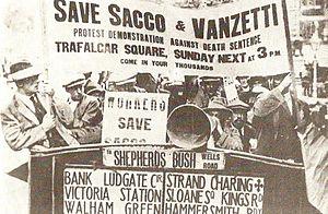 サッコ・ヴァンゼッティの再審を求めるデモ