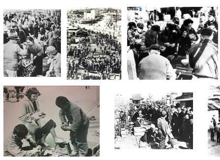 当時のヤミ米販売のイメージ