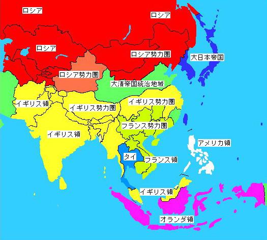 植民地の図です