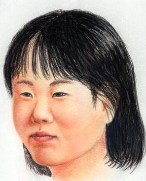 群馬県警が作成した、横山ゆかりちゃんの成人した似顔絵