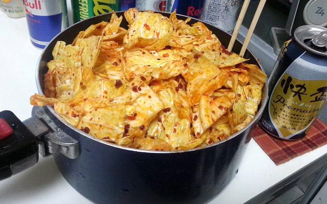 食べるラー油キャベツ