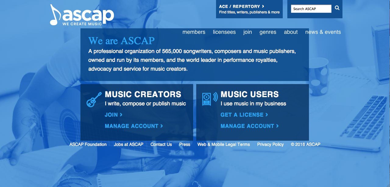 American Society of Composers, Authors and Publishers - Official Site
