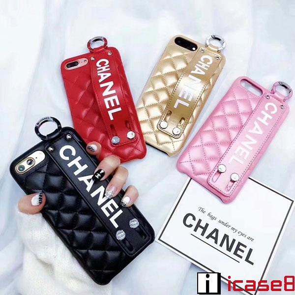 シャネル iphone xrケース ブランド chanel iphone xsケース バンド付き アイフォン X/Xs maxケース キルティング 女性向け