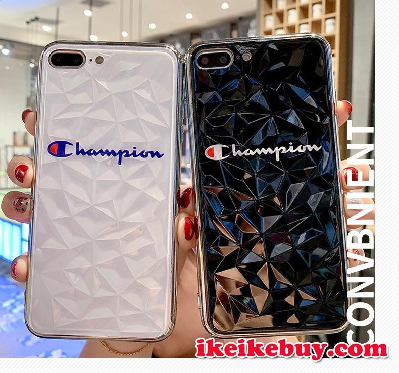 チャンピオン iPhoneXS/XS Max カバー ダイヤモンド柄 キラキラアイフォンXS・X・8plus ソフトケース 高級 お洒落 ブランドchampion iphone Xr/Xs Max アイフォンXsケース 大人気 ファッション