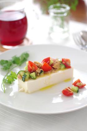 イタリアン冷ややっこ(柚子こしょう風味)