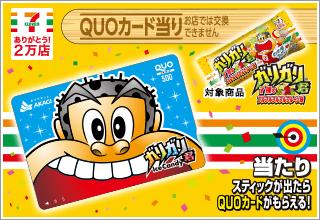 ガリガリ君特製QUOカード500円分