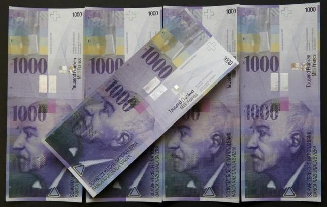 スイス1000フラン紙幣
