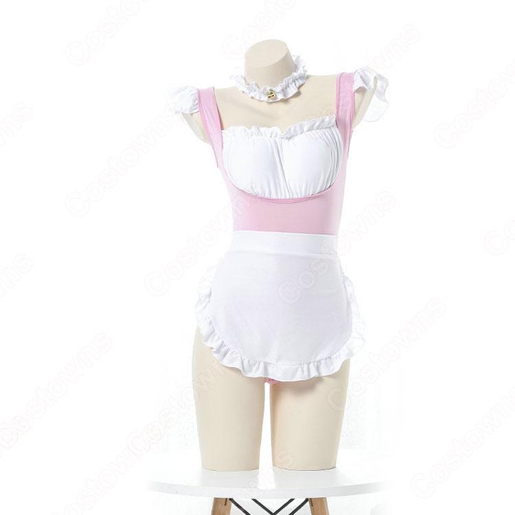 メイド服 コスプレ 胸キュン セクシー メイド風 ランジェリー ピンク 情趣下着 ボディコン バレンタインギフト キャバレー 可愛い 萌え 仮装 コスチューム
