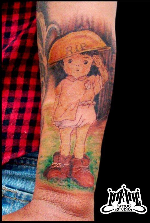 節子、それはお絵描きちゃう、タトゥーや