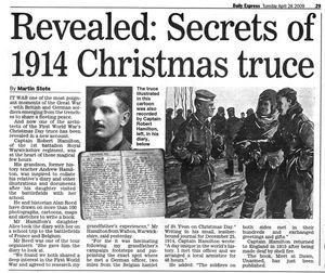 「クリスマス休戦」へ