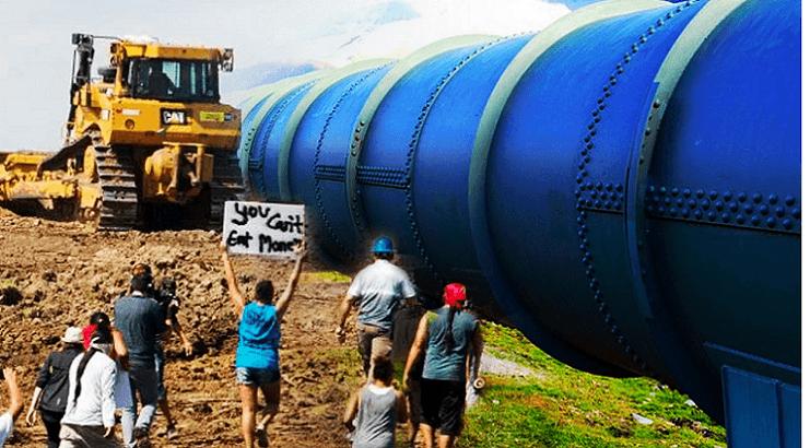 米国ノースダコタの原油パイプライン建設