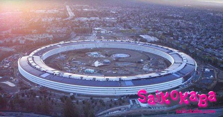 外形は「宇宙船」に似しており 「Apple Park」