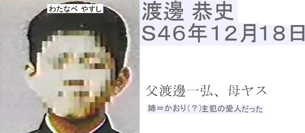 【女子高生コンクリート詰め殺人事件 加害者】渡邊 恭史(D)