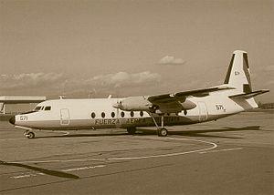 事故を起こしたウルグアイ空軍のフェアチャイルドFH-227D(1972年夏撮影)