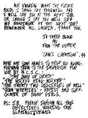 デビッド・バーコウィッツの手紙