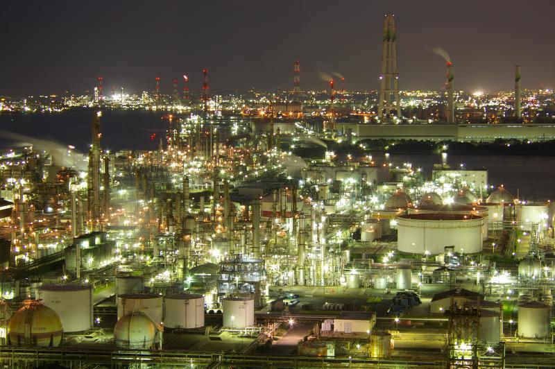 北海道室蘭市の工場夜景