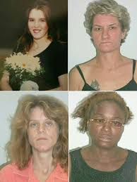 Clockwise from top left: Stacey Gage (30), Laquetta Gunther (45), Iwana Patton (35), Julie Green (34)
