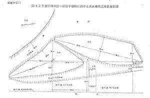 1955年8月2日の現場実測図
