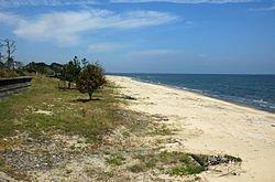事故の現場となった中河原海岸(2006年9月)