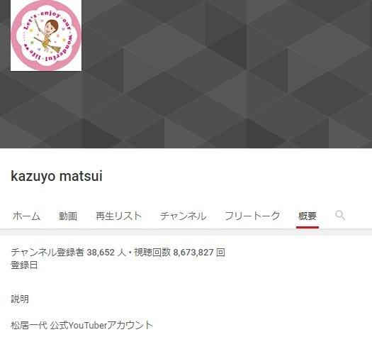 松居一代 Youtubeチャンネル