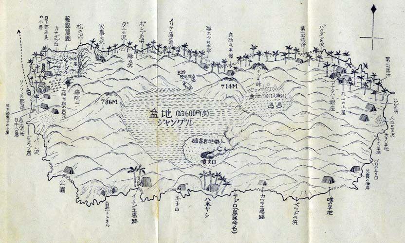 アナタハン島地図(『アナタハン』より)
