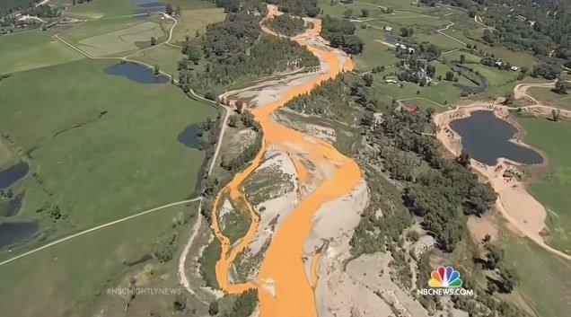 どこまでも汚染された川・・・
