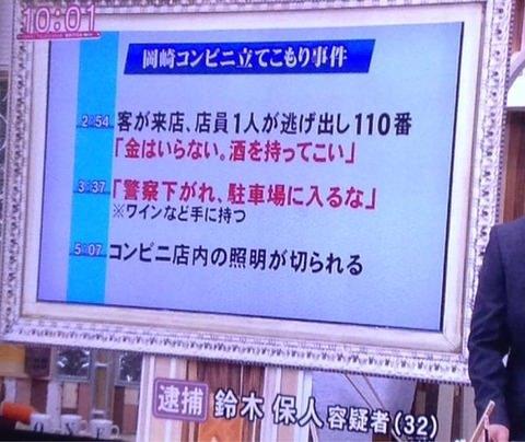岡崎コンビニ立てこもり事件1