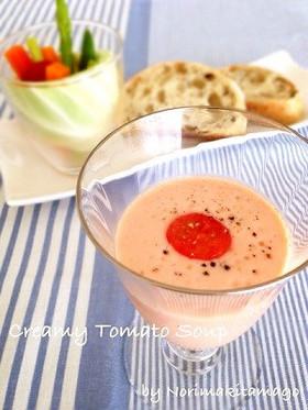 簡単★冷製トマトのクリーミースープ