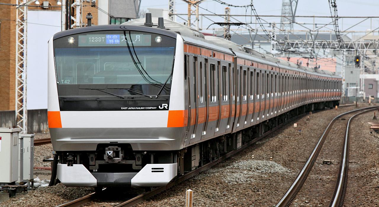 東京駅から八王子高尾を結ぶ「中央線快速」