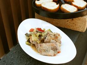 圧力鍋のように使用して野菜の甘みとお肉のジューシーを味わう