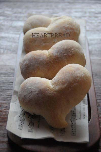 今日もバレンタイン!エンゼルクリーム風ハートパン作っただ♪