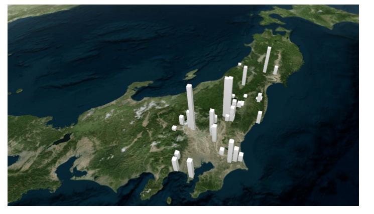 アメリカ政府が発表したストロンチムの汚染地図