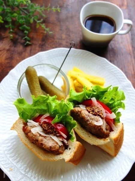 ポケットサンドのハンバーガー