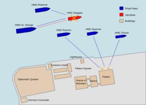 艦砲射撃と海戦の状況