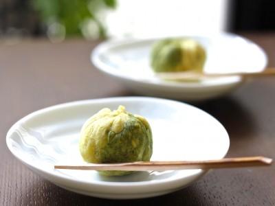 5分で和菓子づくり 上品な甘さの抹茶の芋きんとん