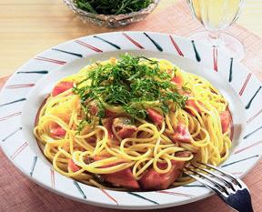 鮭と大葉のスパゲティ