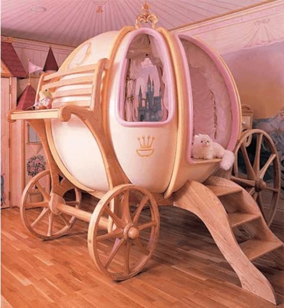 かぼちゃの馬車のようなベッド