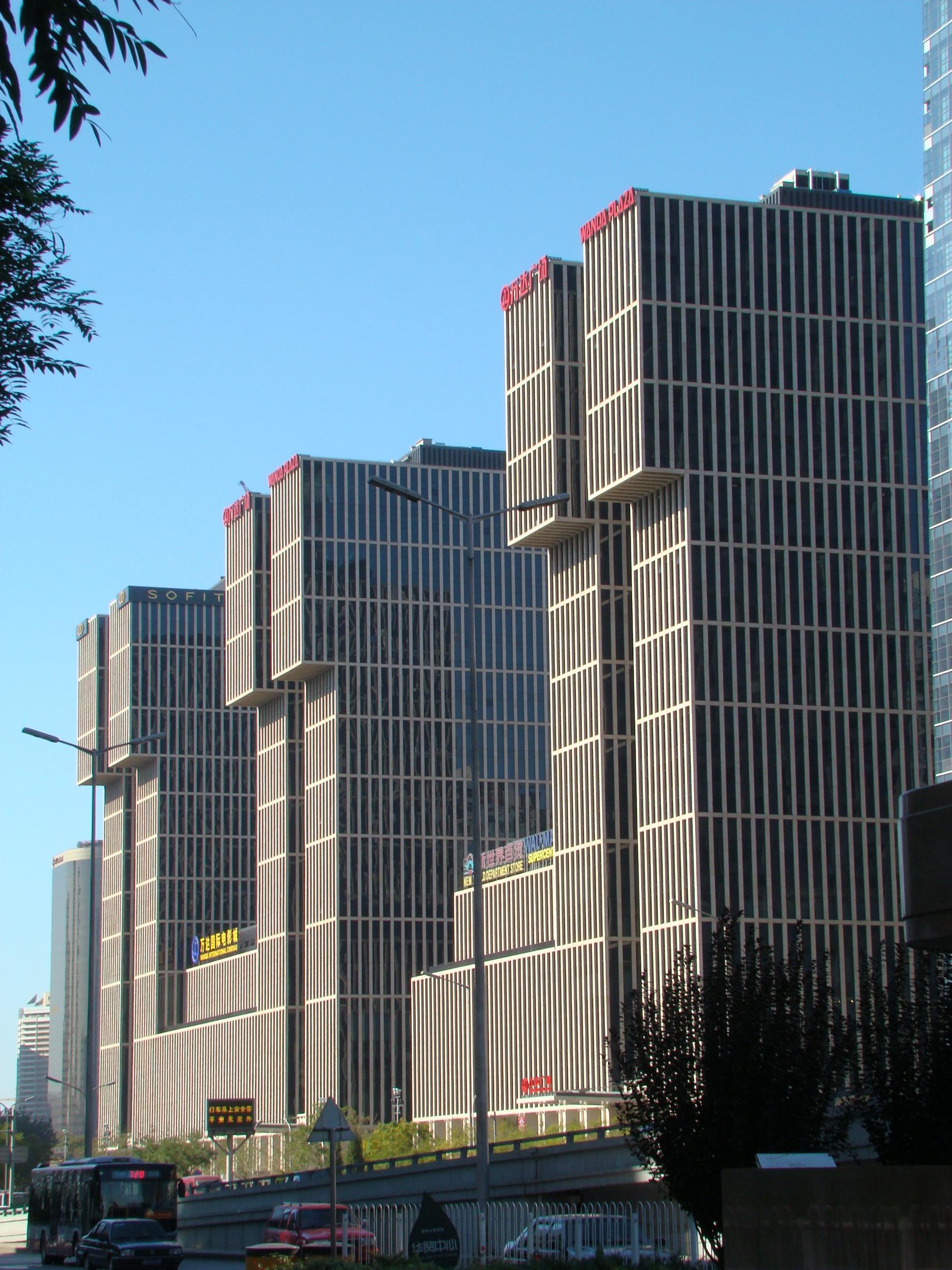 中国万逹集団の本社ビル