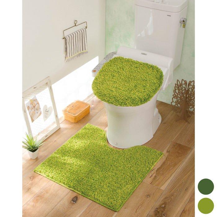 芝生のトイレマット